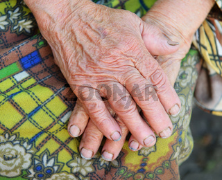 Hands of the old woman - 85 years age