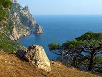 Ukraine. Crimea. Coast of the Black Sea.