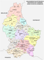 administrative and political vector map Grand Duchy of Luxembourg.eps