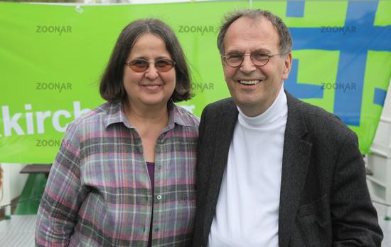 ehemaliger Ministerpräsident von Sachsen-Anhalt Dr.Reinhard Höppner SPD Ehefrau Renate Kirchentag 13