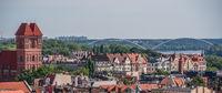 Panorama of historical Old town in Torun