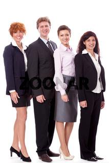 gruppe team mit chef und mitarbeitern geschäft business isoliert