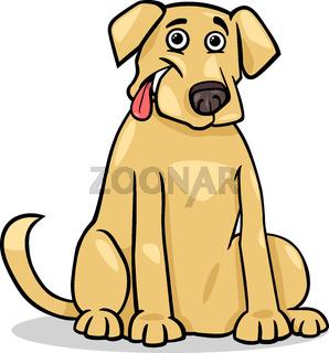 labrador retriever dog cartoon illustration