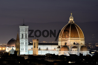 Florence dome, night view, Tuscany
