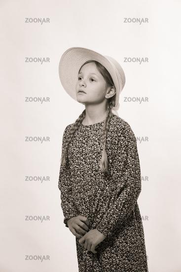 Porträt eines jungen Mädchens in S/W