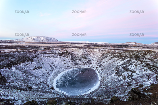 The beautiful Kerid crater in Iceland, Europe