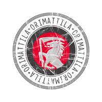 Orimattila city postal rubber stamp