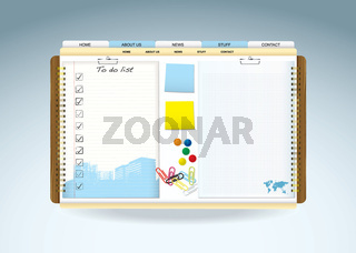 Web paper template