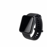 black smart sport watch isolated