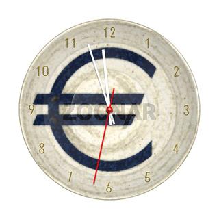 euro clock isolated
