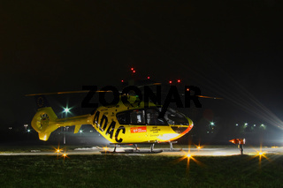 Helicopter at night