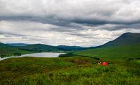 schottland loch tulla highlands zelt