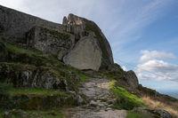Monsanto boulder stone castle pathway, in Portugal
