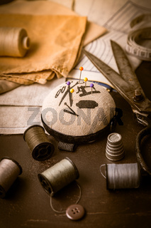 Sewing and craft tools - old scissors