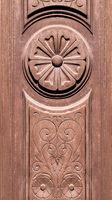 Wooden Ornate Front Door Detail