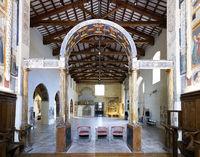 Montefalco Umbria Italy. San Francesco Church frescoed by Benozzo Gozzoli
