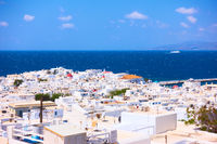 Panorama of Mykonos (Chora) town
