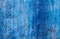 blau gefärbtes Holz