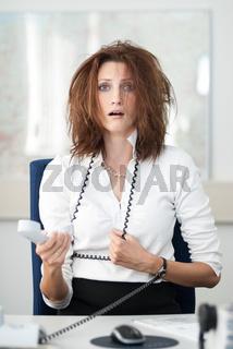 Verzweifelte Businessfrau