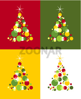 Christmas tree pattern. Bubbles with star on top