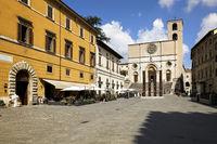 Todi Umbria Italy. Concattedrale della Santissima Annunziata. Cathedral. Piazza del Popolo