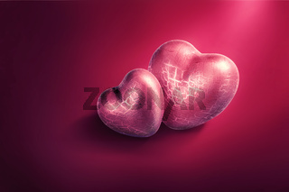 Happy valentine. Heart shaped symbol of love.