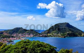 Bucht von Les Saintes, Terre-de-Haut, Iles des Saintes, Les Saintes, Guadeloupe, Kleine Antillen, Karibik.