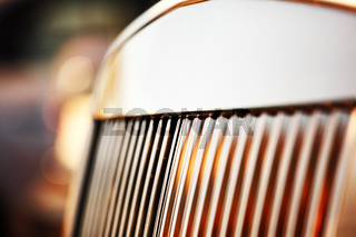 metal car bumper close up