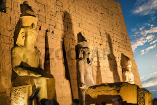 The ancient Luxor temple