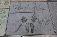 HOLLYWOOD, CALIFORNIA, USA - JULY 29 : Meryl Streep signature and handprints in Hollywood on July 29, 2011