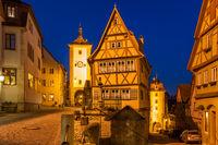 Plonlein square in Rothenburg ob der Tauber