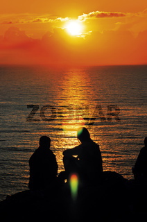 Spanien: Sonnenuntergang am Kap Fisterra