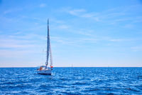 Sailing boat in the sea