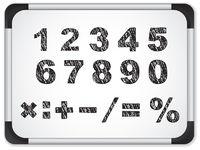 Black Numbers on Whiteboard