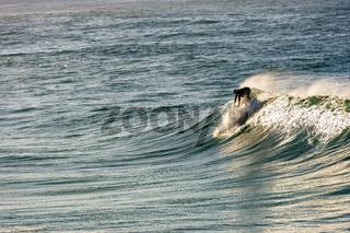 Surfer on Ipanema Beach, Rio de Janeiro at dawn