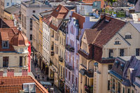 Streets of Torun Old town seen from above
