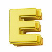 Yellow font Letter E 3D