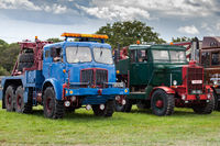 RUDGWICK, SUSSEX, UK - AUGUST 27 : Old trucks on display at the Rudgwick Steam Fair in Rudgwick Sussex UK on August 27, 2011. Four unidentified people