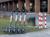 Elektro-Motorroller auf dem Messegelände Köln-Deutz