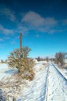 Winter in der Uckermark - Deutschland