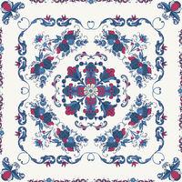 Rosemaling vector pattern 22