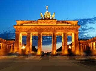 Brandenburg Gate in Berlin at night Germany