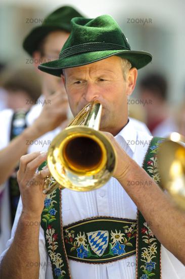 Bayern Musiker in Tracht