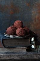 Schokoladen Trüffelpralinen