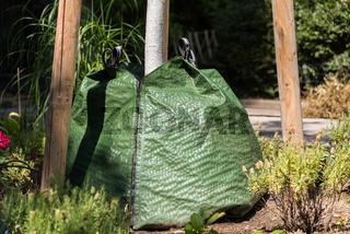 Wassersack als einfache Bewässerungsform für Parkbäume