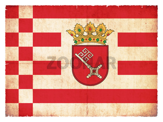 Grunge flag of Bremen (Germany)