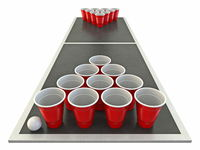 Beer pong table Front view 3D