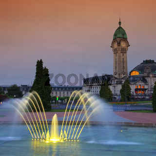 Limoges Bahnhof Nacht - Limoges station by night 02