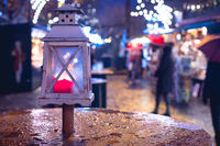Christmas market in Salzburg, decoration, lights and city flair