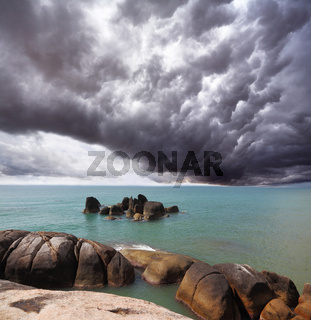 Storm cloud over the southern sea